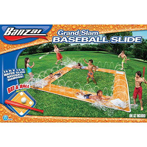 Spring and Summer Toys Banzai Grand Slam Baseball Waterslide by Banzai