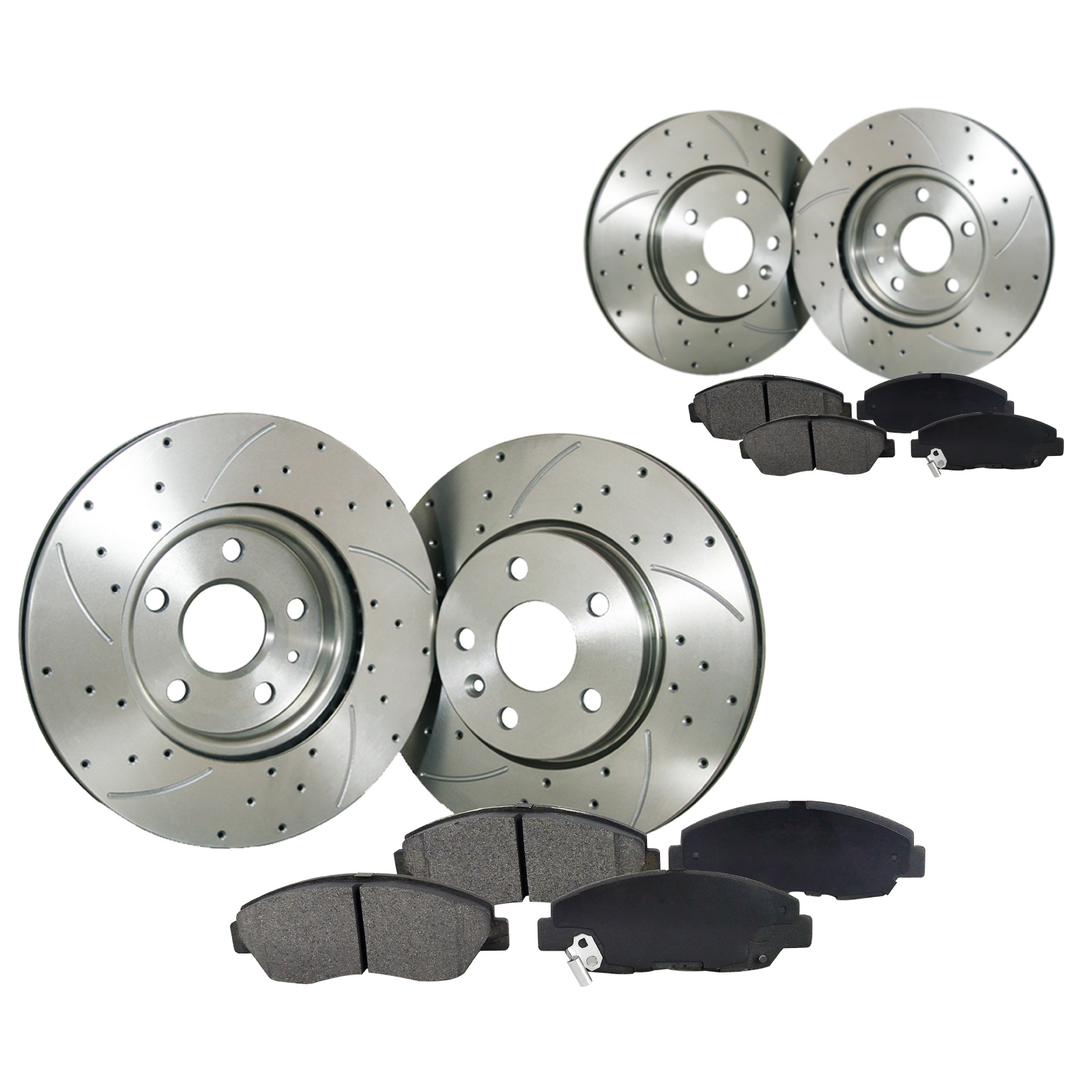 POSI QUIET Ceramic Pads for CTS STS-JE5 REAR Drill Slot Brake Rotors