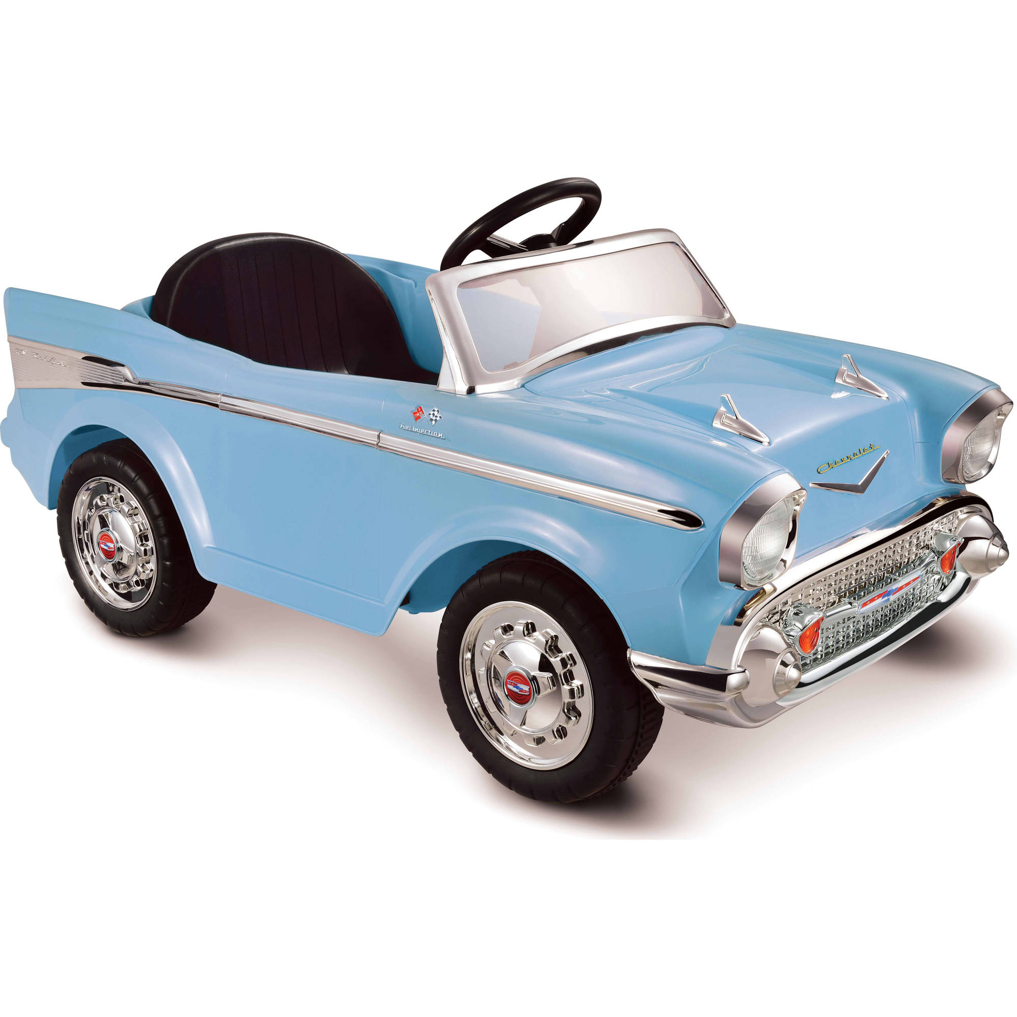 Kid Motorz Chevy Bel Air 12 Volt Battery Powered Ride On Blue Walmart Com