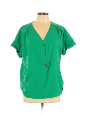 Pre-Owned Marc New York Women's Size L Short Sleeve Blouse