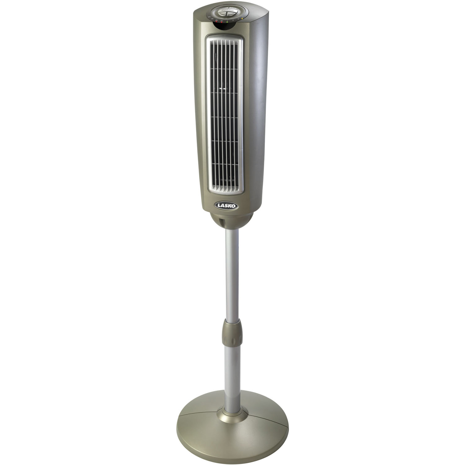 "Lasko 52"" Space-Saving Oscillating Pedestal Tower Fan with Remote Control"