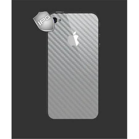 IPG 1109CS  iPhone 4-4S SILVER Carbon Fiber BACK Protecor