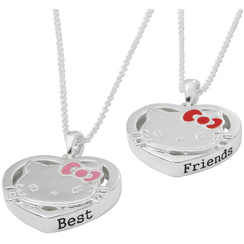 "Fine Silver-Tone Hello Kitty Pendants, 18"", 2-Piece"