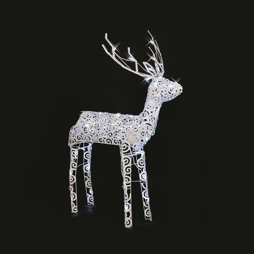 LB International LED Scroll Buck Christmas Decoration