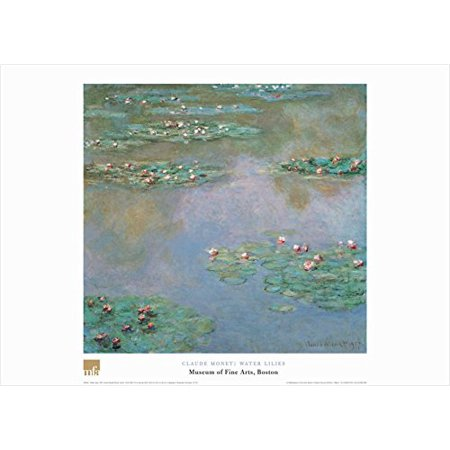 Water Lilies by Claude Monet 20x28 Art Print Poster Famous Painting Water Flower Plants Green