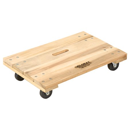 Hardwood Dolly - Solid Deck, 24 x 16, 1000 Lb. Capacity, Lot of 1