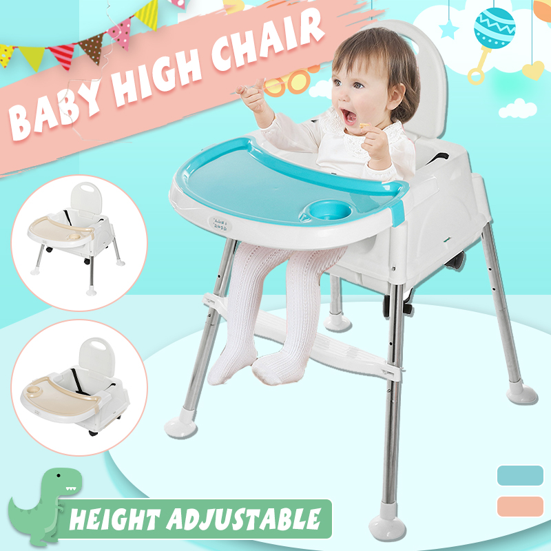 Blue Baby Feeding Highchair for Home//Outdoor Non-Slip Adjustable 6 Month-3 Years Infant Chair Children Kids Foldable High Chair Seat