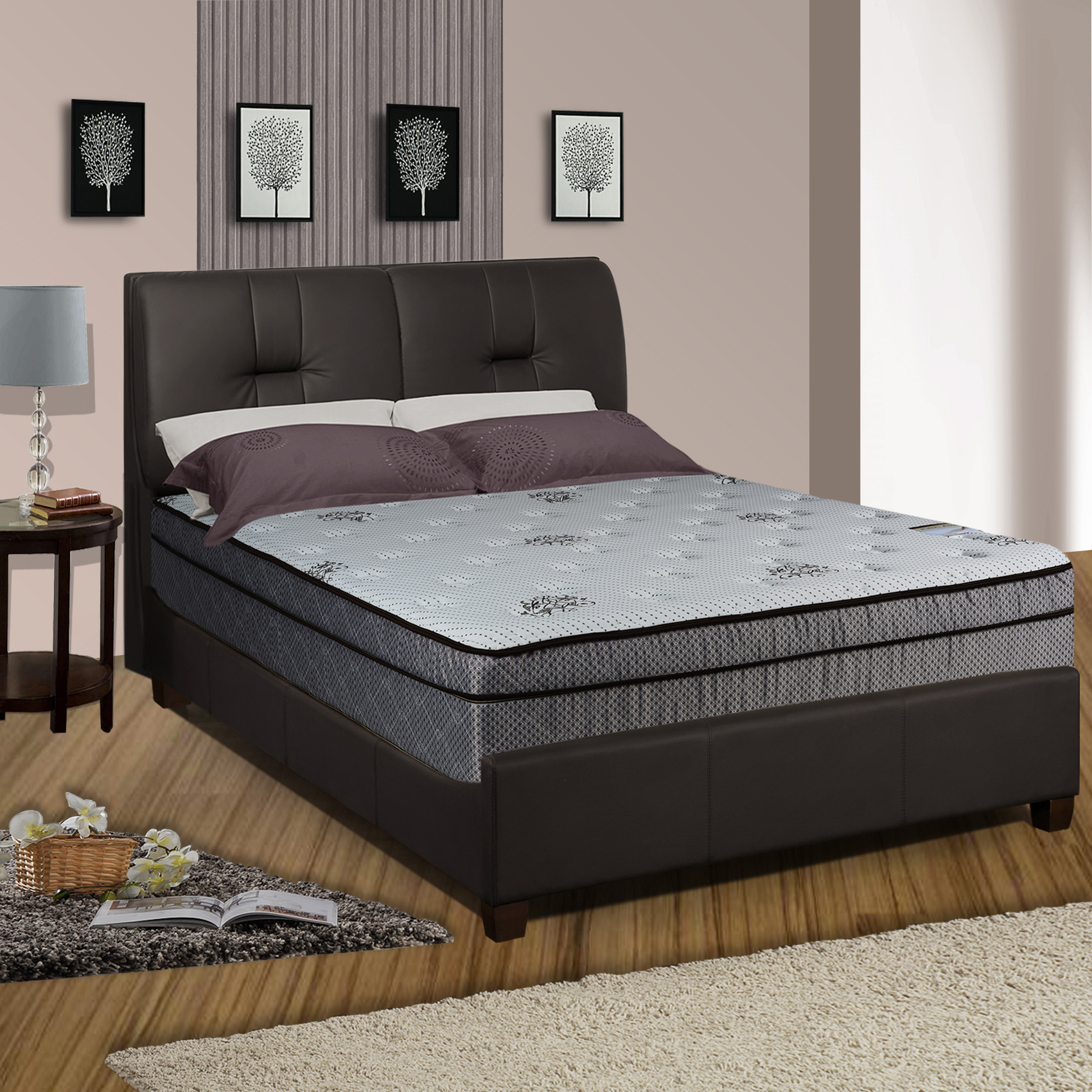 Continental Sleep, 13-inch Fully Assembled Innerspring Soft Mattress, Twin Size