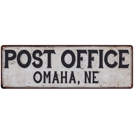 Omaha, Ne Post Office Personalized Metal Sign Vintage 6x18 206180011034 (Post Office Hours Omaha)