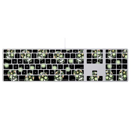 - Skin For Apple Keyboard with Numeric Keypad MB110LL/B – Nighttime Skulls | MightySkins Protective, Durable, and Unique Vinyl Decal wrap cover | Easy To Apply, Remove | Made in the USA
