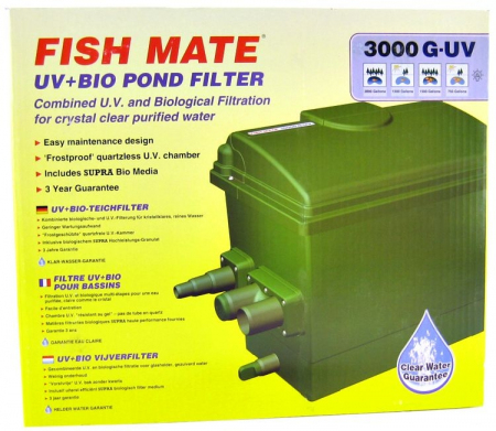 Fish Mate Gravity UV+Bio Pond Filter by Ani Mate, Ltd.