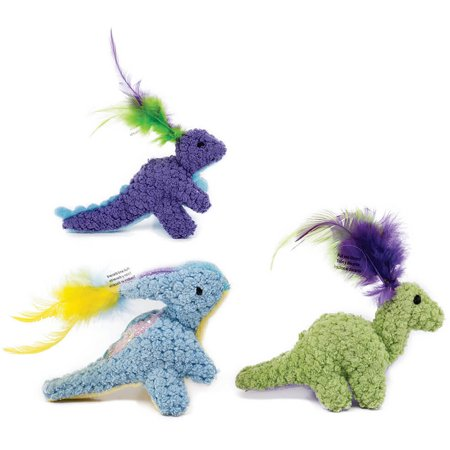 Pet Zone Dino Friends Cat Toy, 3