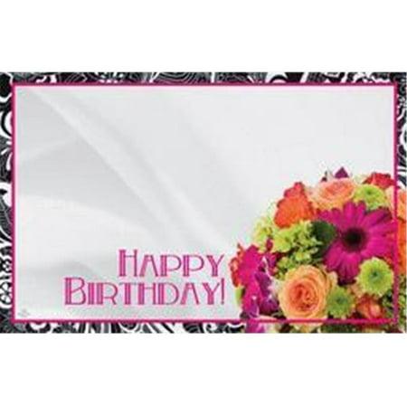 Design 88 51382 Enclosure Card - Birthday Flowers