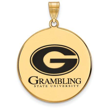 Logoart Sterling Silver Gp Grambling State U Extra Large Enamel Disc (Best Large Gp Screen)
