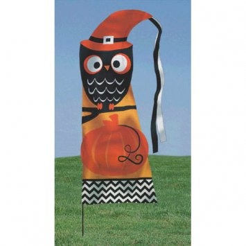 Modern Halloween Feather Flag Yard Stake 4.75 ft for $<!---->