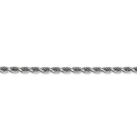 10K White Gold 3.35mm Diamond Cut Quadruple Rope Chain 24 Inch - image 3 de 5
