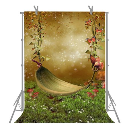 XDDJA Polyester Fabric Background 5x7ft Dreamlike Fairy Tale Hammock Photography Backdrop For Children Photo Shooting Props - image 1 de 2