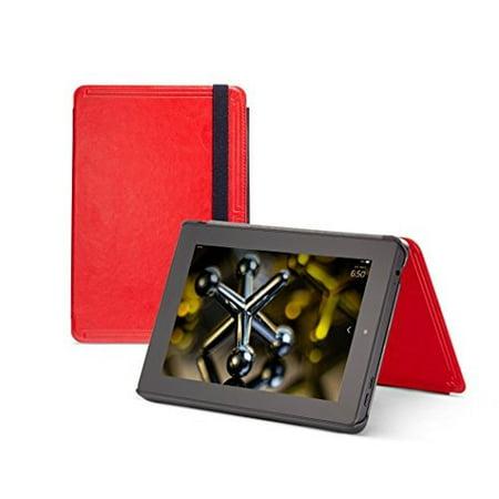 MarBlue SlimTech Case For Fire HD 7 Only Fits 4th Gen Red Cover Folding Folio (Folding Wayfarer Case Only)