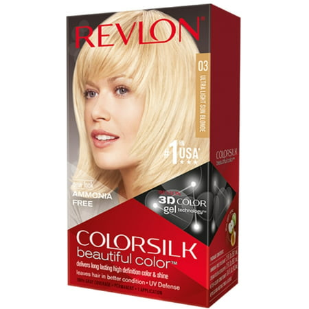 Revlon ColorSilk Hair Color, 03 Ultra Light Sun Blonde 1