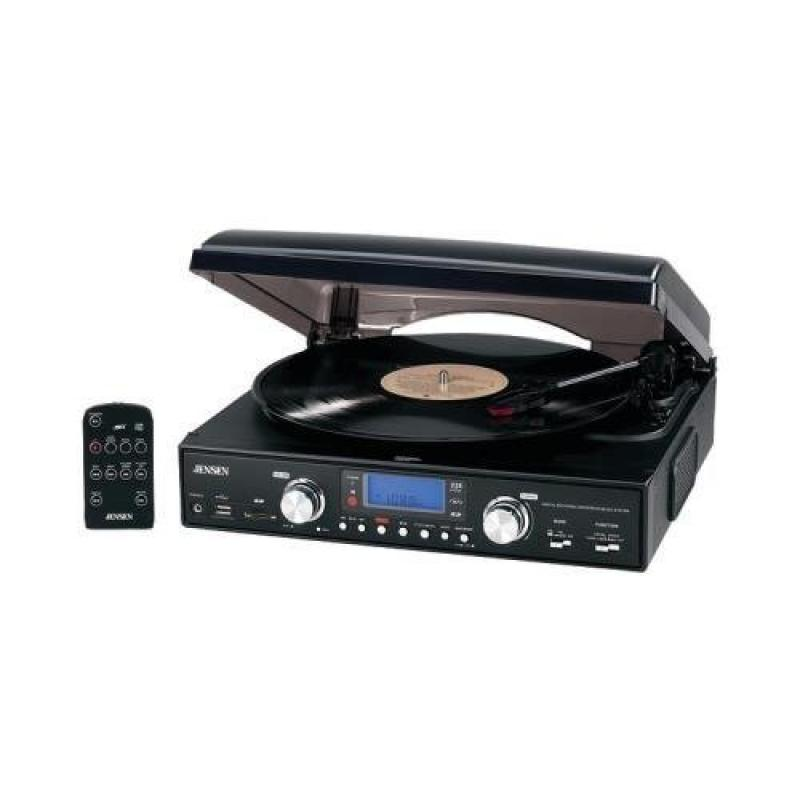Jensen Jta-460 3-Speed Stereo Turntable With Mp3 Encoding System by Jensen