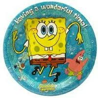 Nickelodeon Spongebob Sqarepants Luncheon Plates