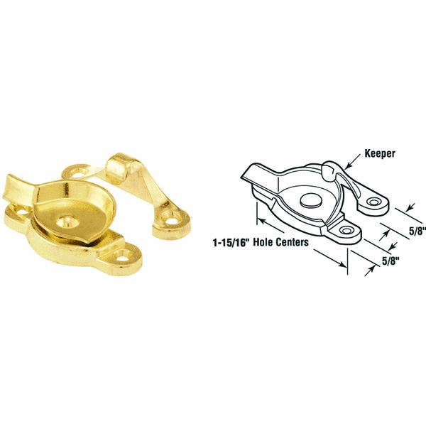 Prime-Line Sash Lock For Many Double Hung Windows Die-Cast Brass Finish Carded 1 / Set