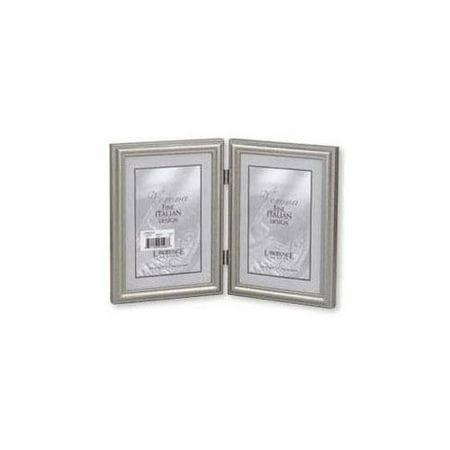 lawrence frames 510946d pewter bead 4 x 6 double picture frame. Black Bedroom Furniture Sets. Home Design Ideas