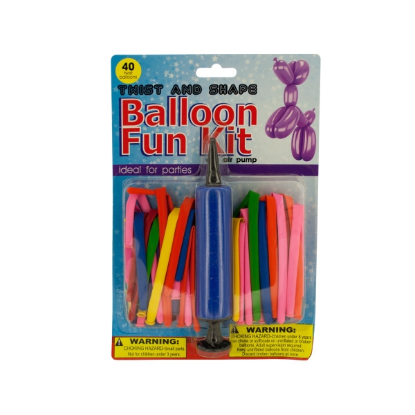 Twist & Shape Balloon Fun Kit with Air Pump (Lot of 4)
