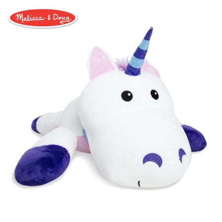 Melissa & Doug Cuddle Unicorn Jumbo Plush Stuffed Animal with Activity Card