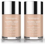 2 Pack -Neutrogena Healthy Skin Liquid Makeup Foundation, Broad Spectrum Spf 20, 50 Soft Beige, 1 Oz.