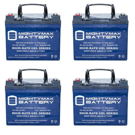 12V 35AH GEL Battery for Shepard Meyra Wheelchairs 3400 - 4 Pack
