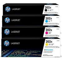 HP 202X High Yield Black 2-Pack and Cyan/Magenta/Yellow Original LaserJet Toner Cartridge Set