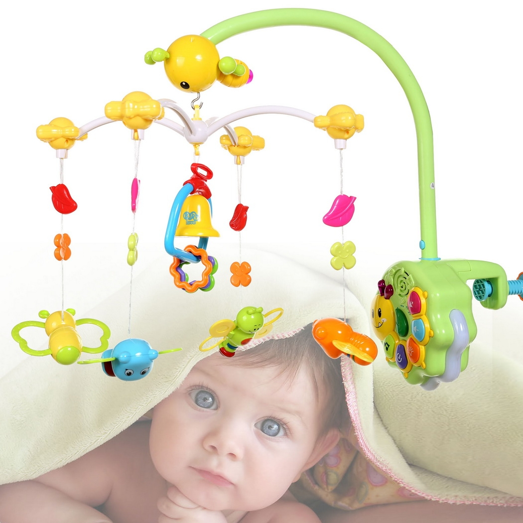 Baby Bedside Hanging Toys Rattle Multifunctional Musical,Light, Remote Control by Unbrand