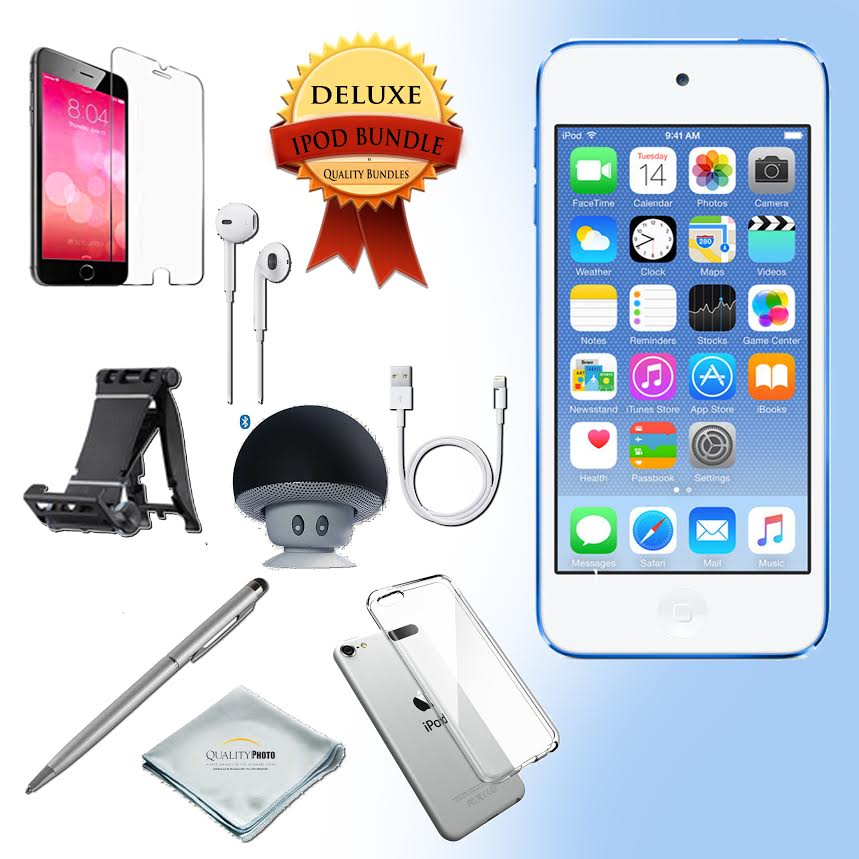 Apple Ipod touch 6th generation 128GB Gold - Bluetooth Speaker - Case - Screen Protector - Stand - Stylus Pen - Cloth