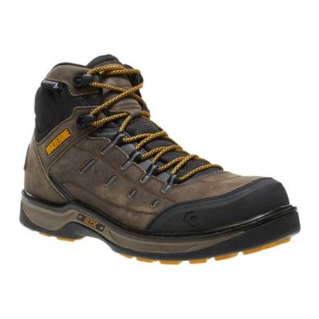 Wolverine Safety Shoes - men's wolverine edge lx epx comp toe wp work boot black 13 m