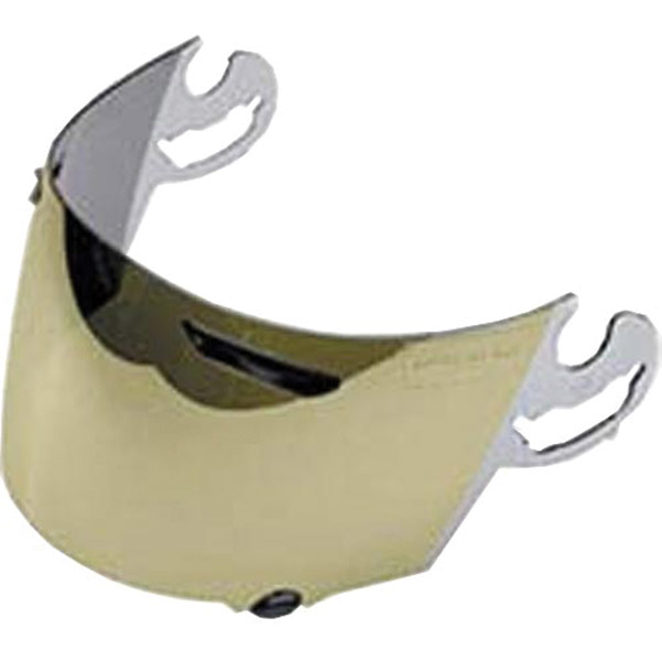 Arai Unisex Adult  Gold Mirror Replacement Faceshield for Vector 2, Defiant and Defiant Pro-Cruise Helmets 1376
