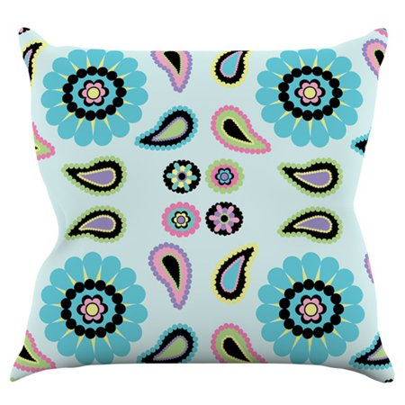 Kess Inhouse Nina May Paisley Candy Quad Flower Indoor Outdoor