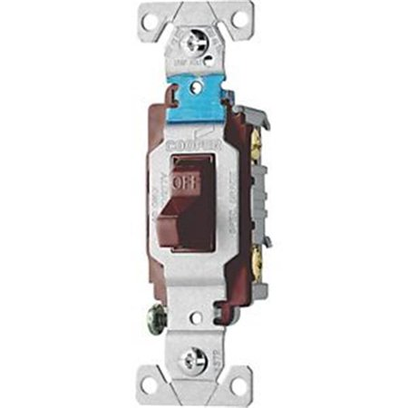 Cooper Wiring 922898 15 A 1-Pole Quiet Toggle Switch, Brown - image 1 de 1