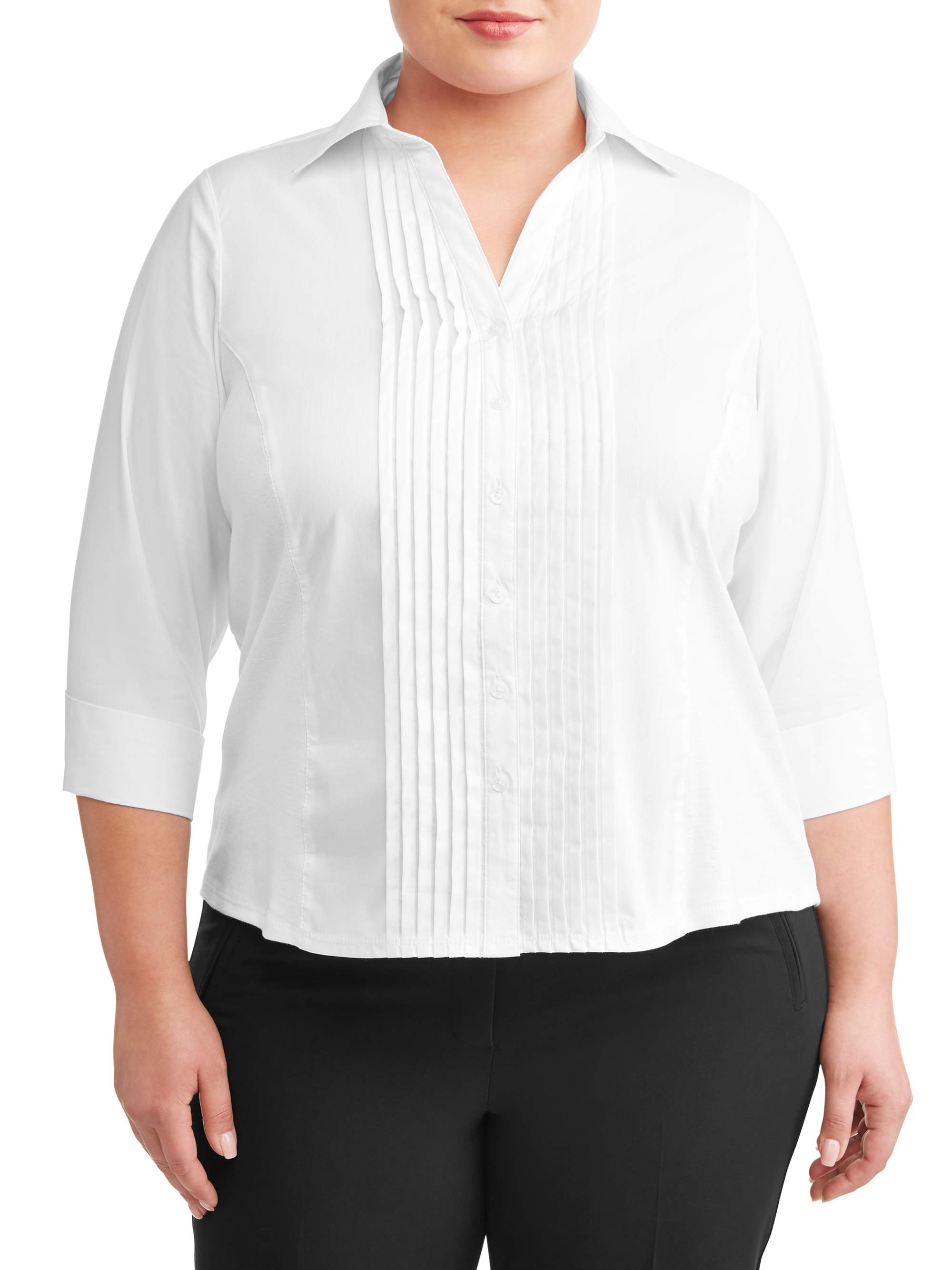 Women's Plus Sized Career Knit to Fit Blouse