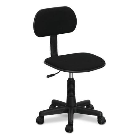 Furinno Hidup Mesh Low-Back Nylon Base Swivel Chair, Black