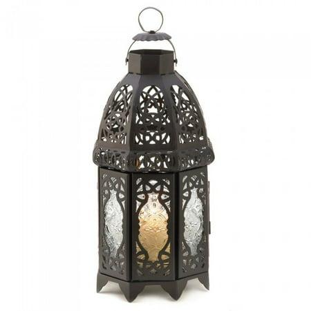 BLACK LATTICE LANTERN - Lattice Table Lantern