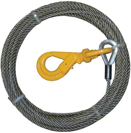 B/A PRODUCTS CO. 4-38SC35LH Winch Cable, Steel, 3/8 In. x 35 ft.