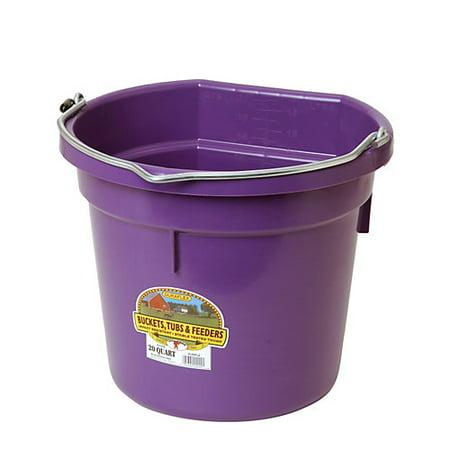- DuraFlex Flat Back Bucket 20 Qt PURPLE