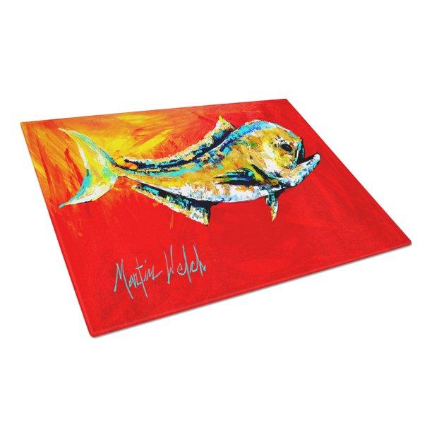 Danny Dolphin Fish Glass Cutting Board Large Walmart Com Walmart Com