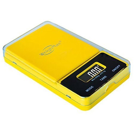 - weighmax nj650-yellow dream series digital pocket scale, 650 by 0.1 g, yellow by weighmax