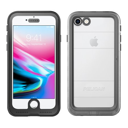 iPhone X Case   Pelican Marine Waterproof Case for iPhone X (Clear/Black)