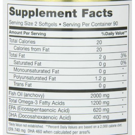 Maxi Health Omega 3 Fatty Acids Concentrate   Fish Oil   2000Mg   180   20 Gel Capsules   Kosher