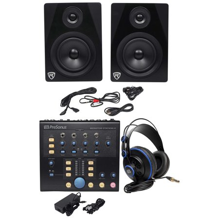- Presonus Monitor Station V2 Control Center+(2) Studio Monitors+Studio Headphones