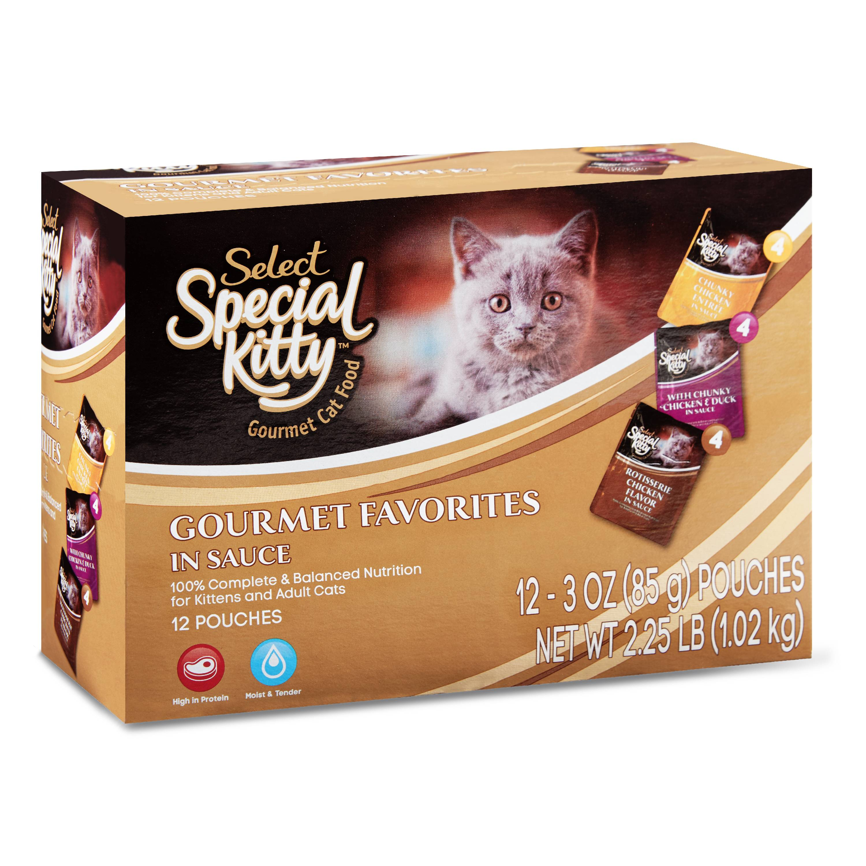 (2 Pack) Special Kitty Select Gourmet Wet Cat Food Variety Pack, 3 oz, 12 Pack