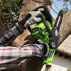 Greenworks 12-Inch 40V Cordless Chainsaw, 2Ah Battery and Charger Included 2000219